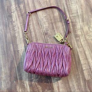 Miu Miu Matelasse Lux Leather Shoulder/Clutch Bag